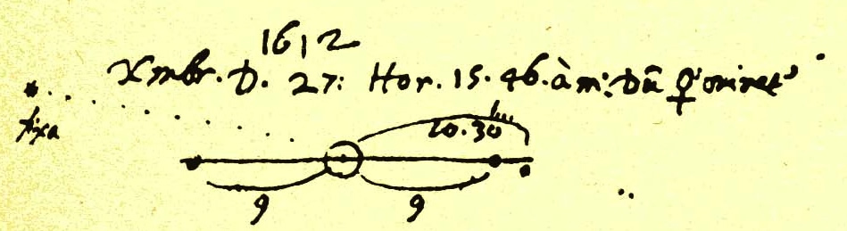 Galileo sketch includes Neptune