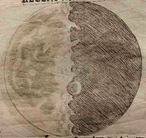 Galileo sketch of moon