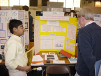 Light pollution project at science fair