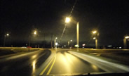 Roundabout at Cleveland and Bittersweet Roads at night