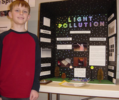 Horizon student's science fair project